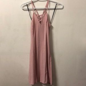 Spaghetti strap pink dress